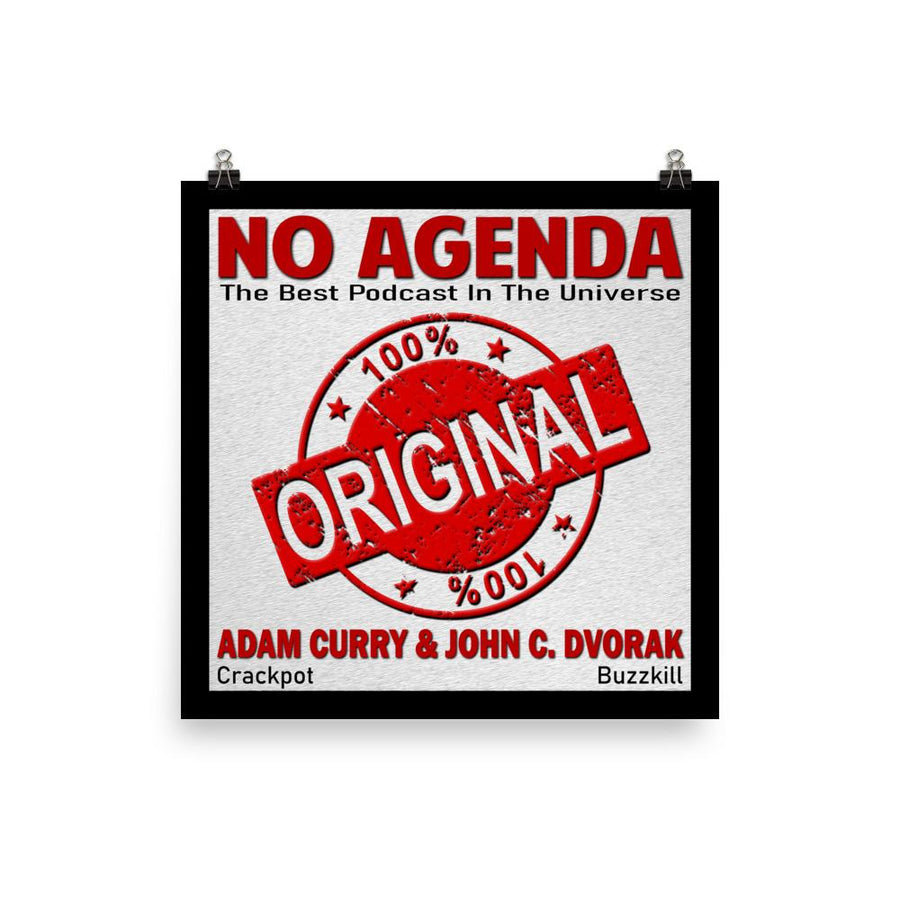 NO AGENDA 1192 - cover art poster print