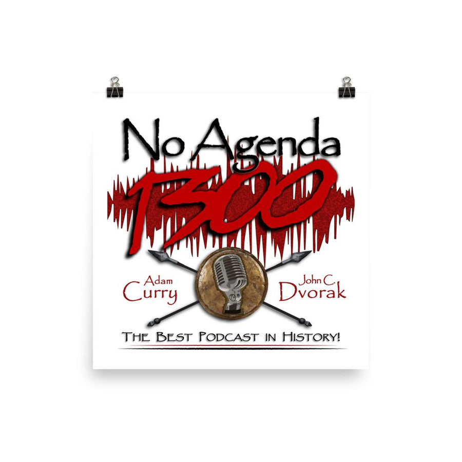 NO AGENDA 1300 - cover art poster print