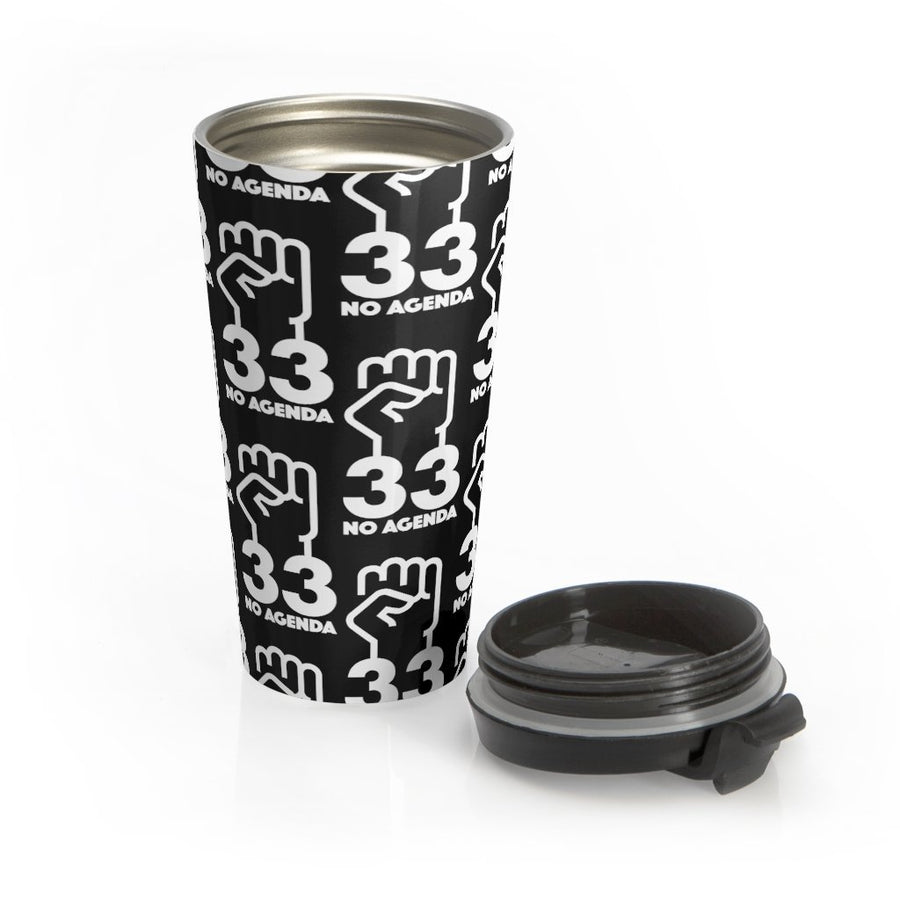 NO AGENDA 33 - B - 15 oz travel mug
