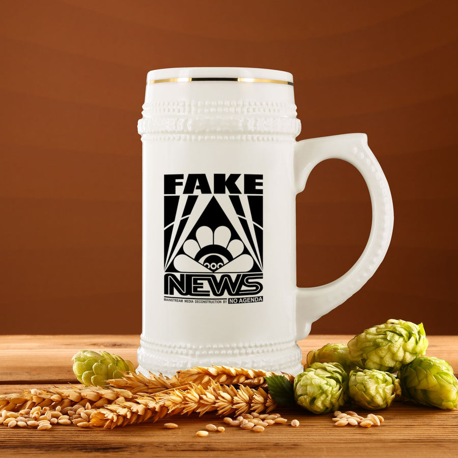 FAKE NEWS - beer stein