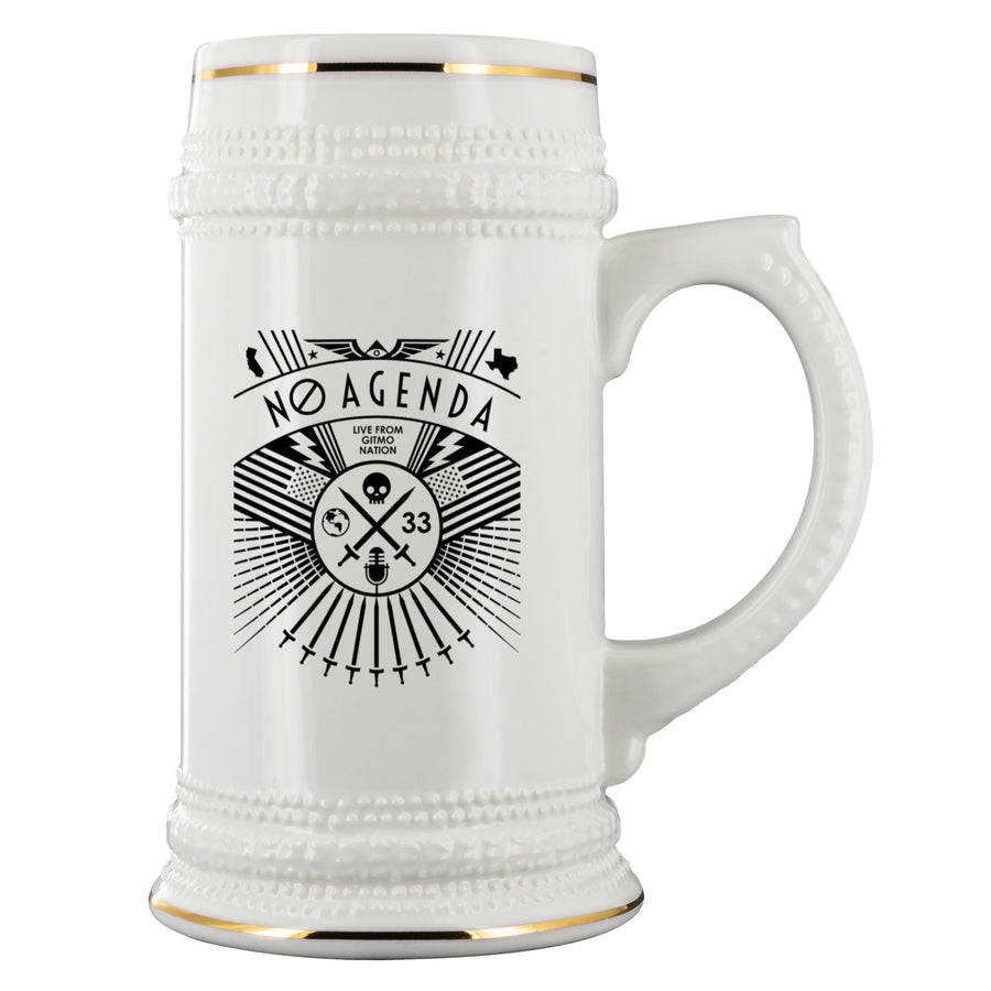 NO AGENDA RALLY - beer stein