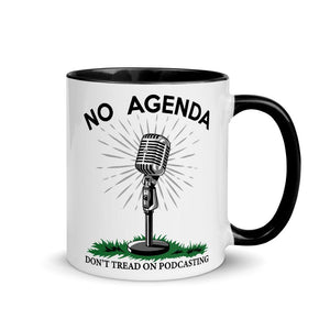DONT TREAD ON PODCASTING - accent mug