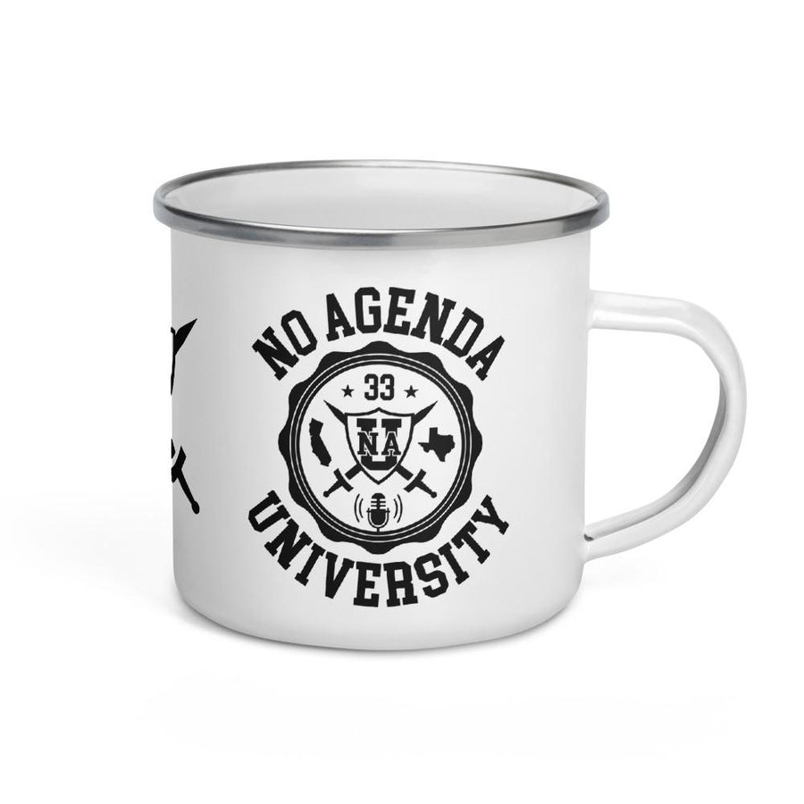NO AGENDA UNIVERSITY - enamel mug