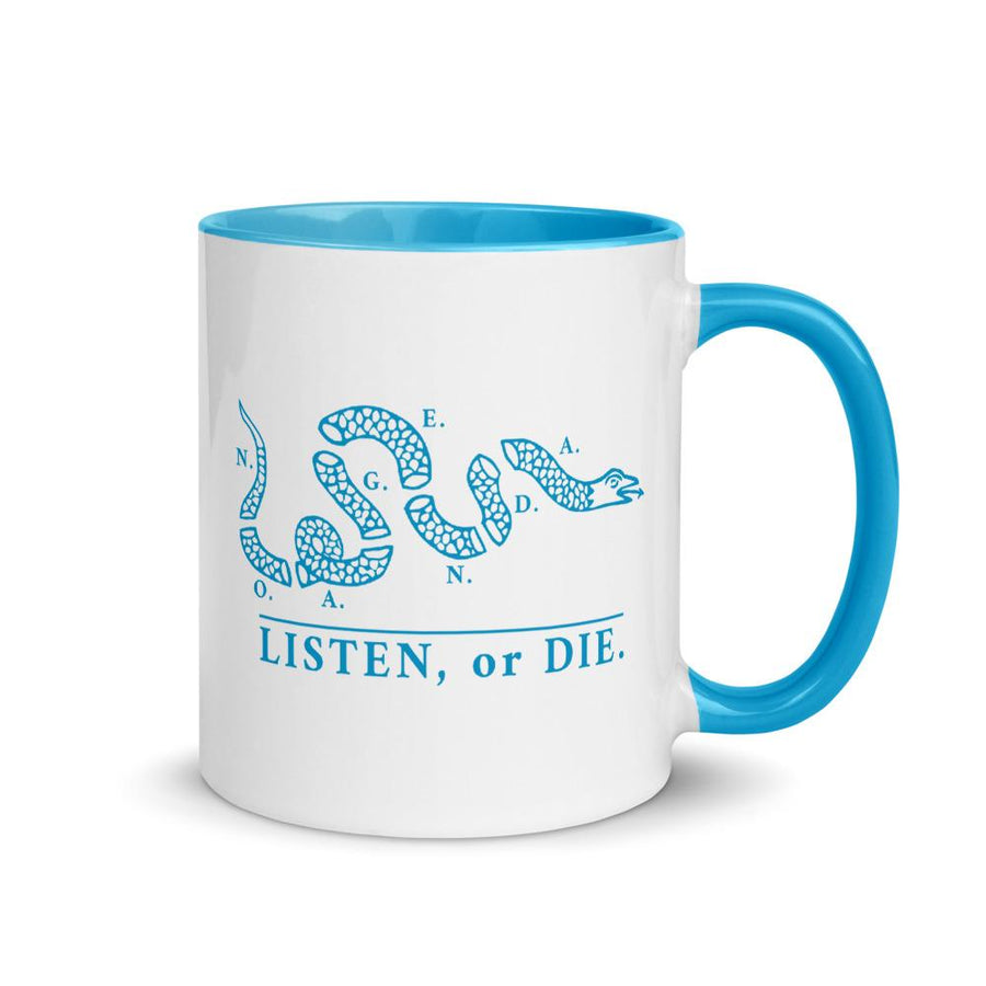LISTEN OR DIE - accent mug