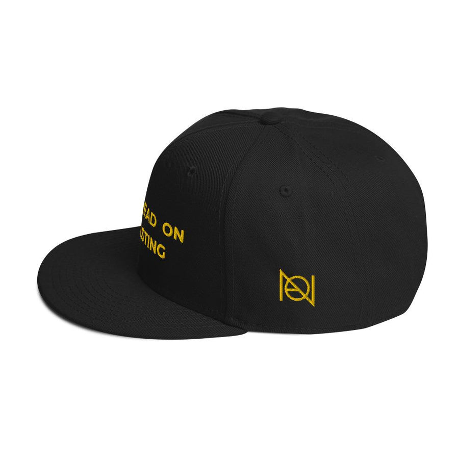 DONT TREAD ON PODCASTING - high snapback hat