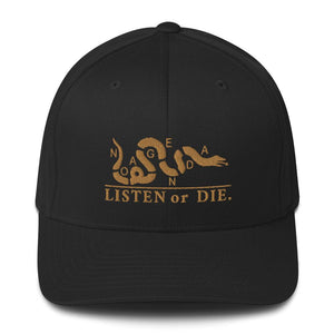 LISTEN OR DIE - fitted hat