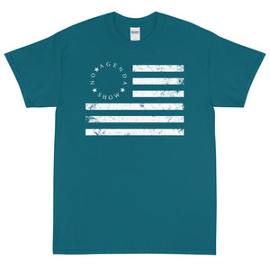 NO AGENDA BETSY FLAG - rugged tee