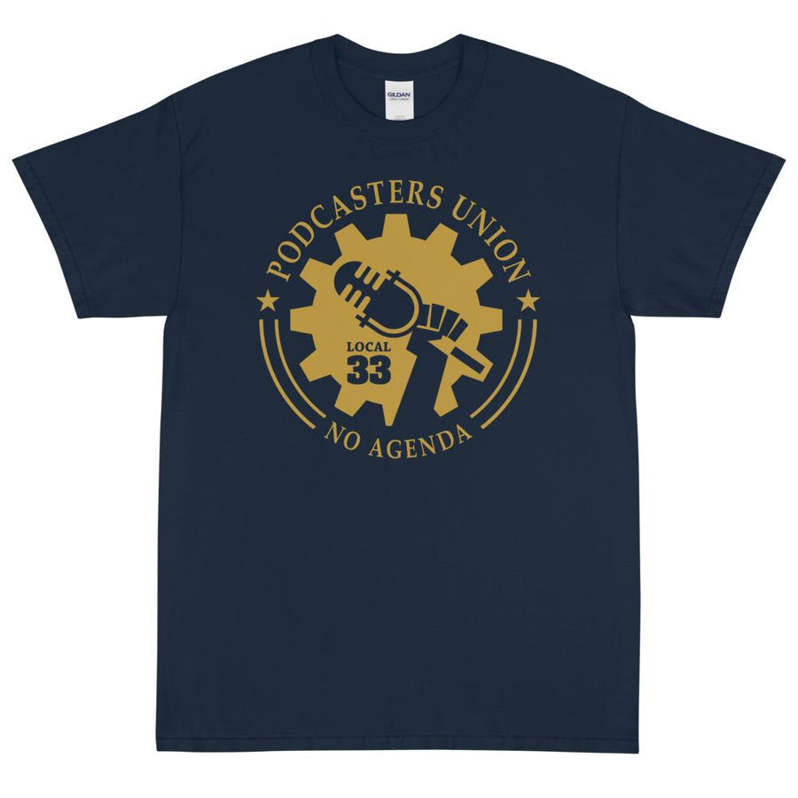 PODCASTERS UNION 33 - rugged tee