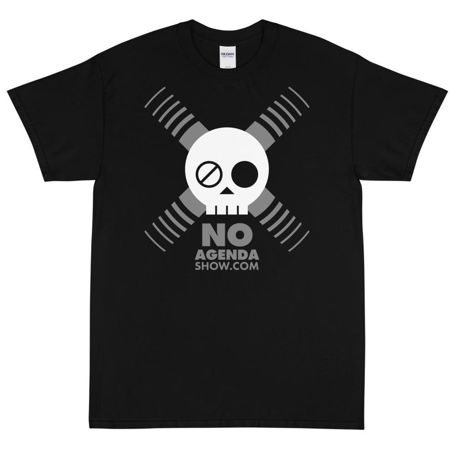 NO AGENDA SKULL - rugged tee