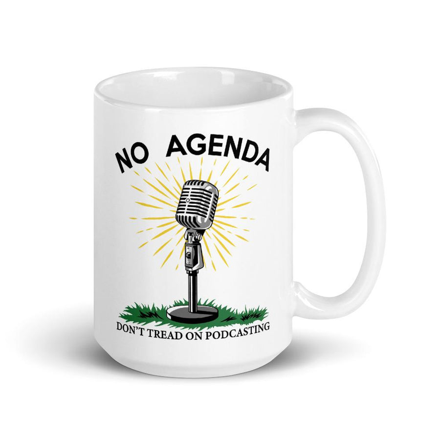 DONT TREAD ON PODCASTING - mug