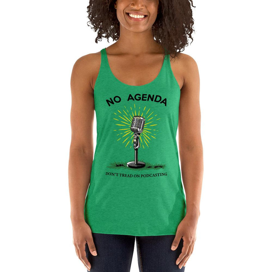 DONT TREAD ON PODCASTING - racerback tank