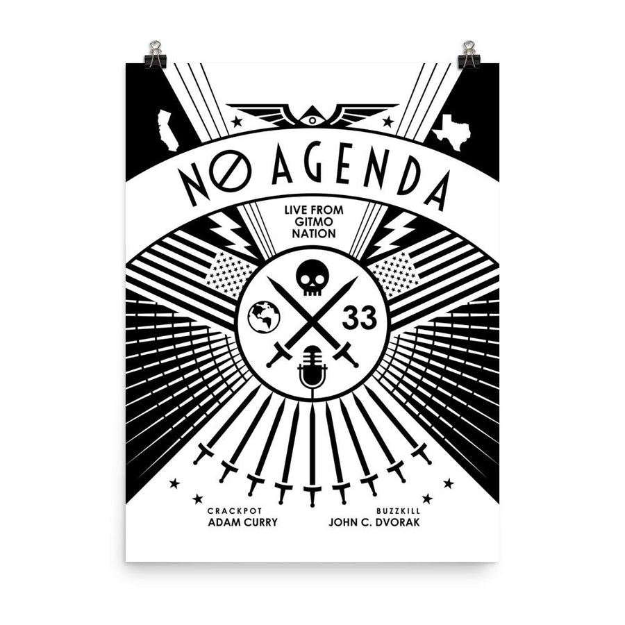 NO AGENDA RALLY | light - art print