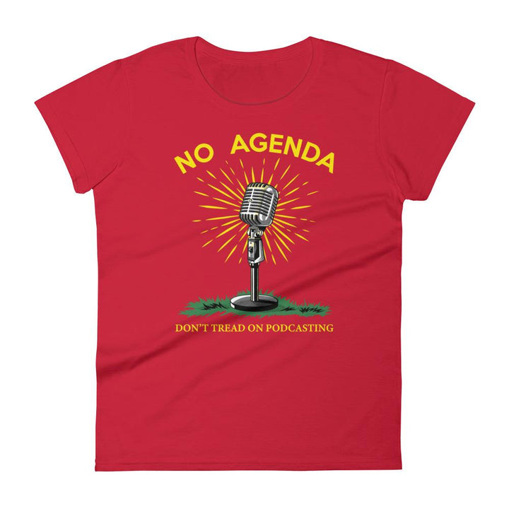 DONT TREAD ON PODCASTING - womens tee
