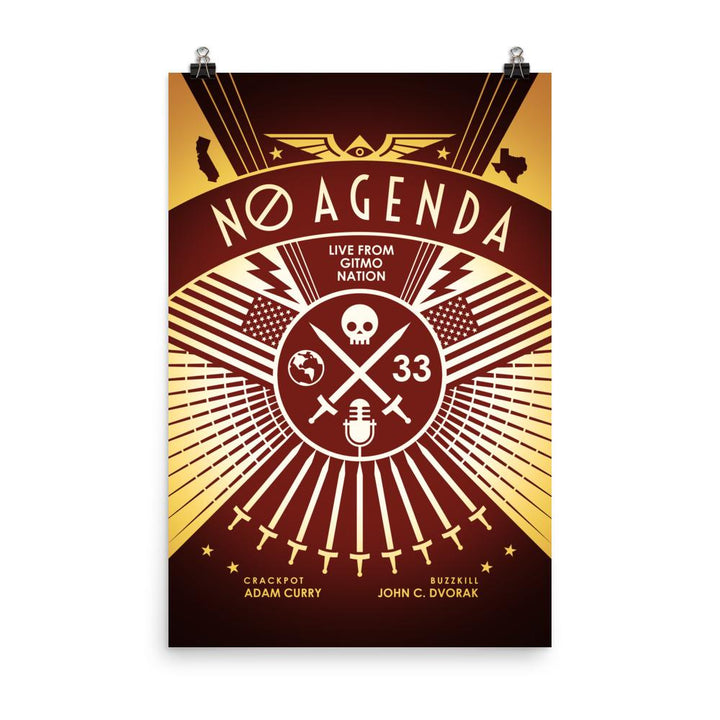 NO AGENDA RALLY | sienna - art print