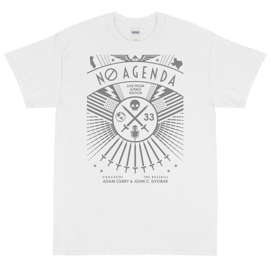 NO AGENDA RALLY - rugged tee