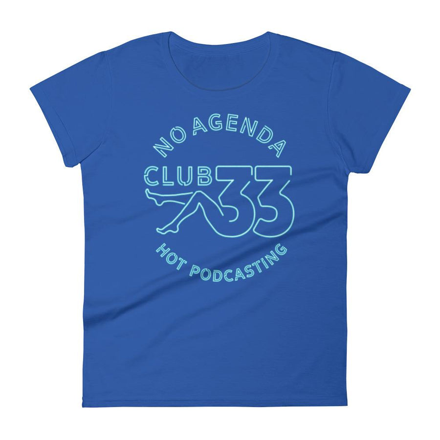NO AGENDA CLUB 33 - womens tee