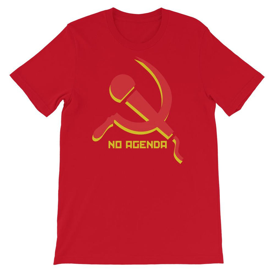 NO AGENDA MIC & SICKLE - tee shirt