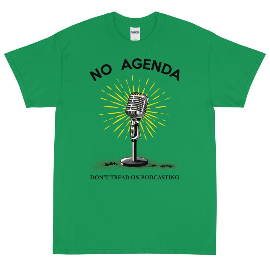 DONT TREAD ON PODCASTING - rugged tee