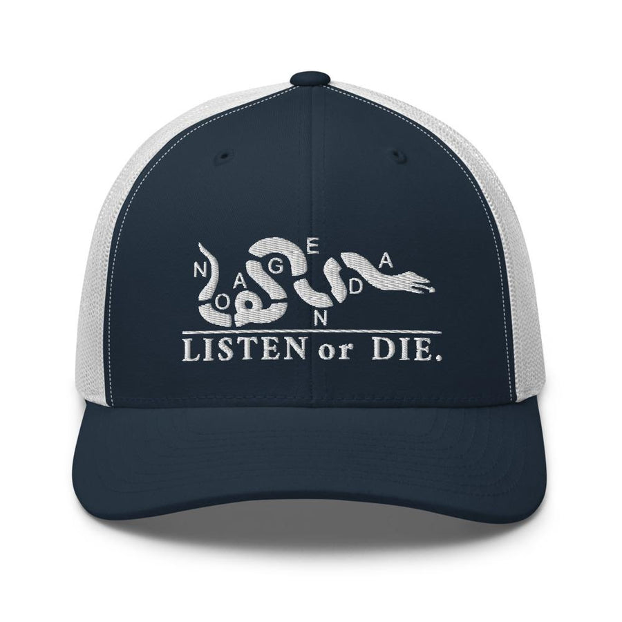 LISTEN OR DIE - mid trucker hat