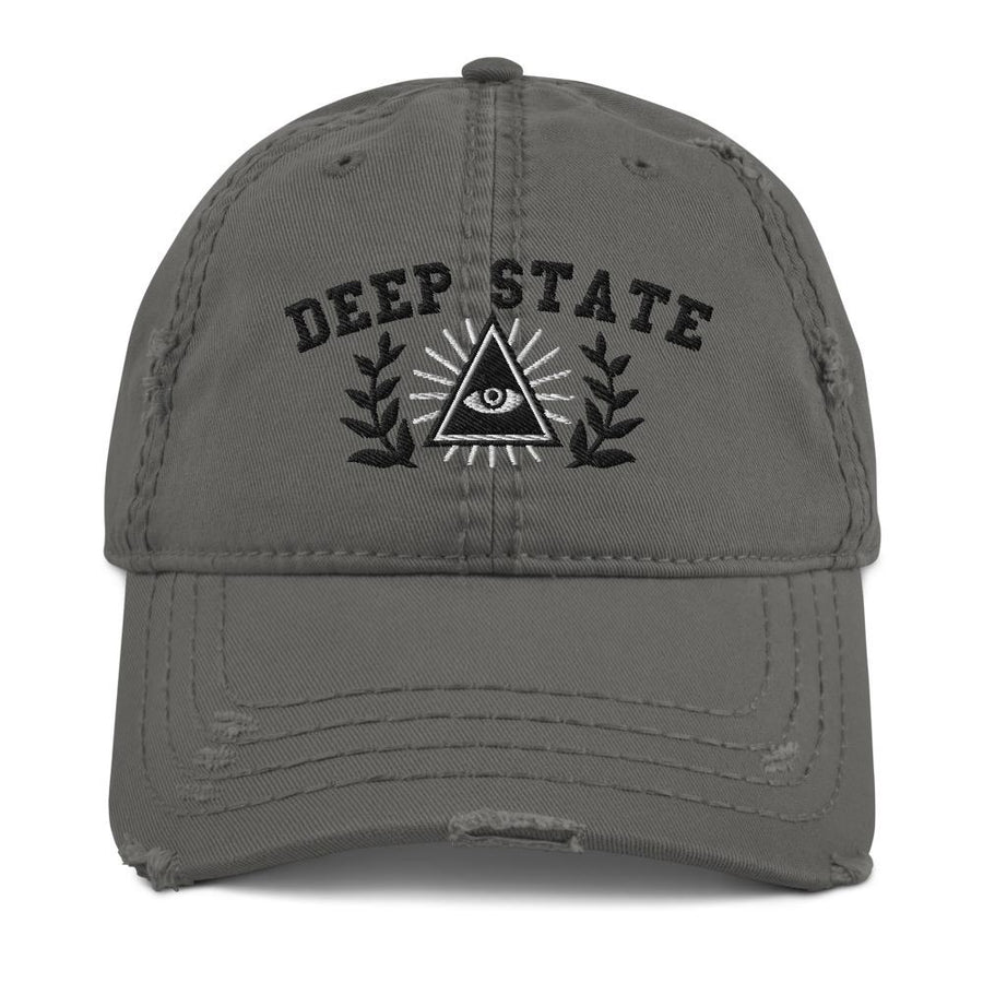 DEEP STATE UNIVERSITY - distressed hat