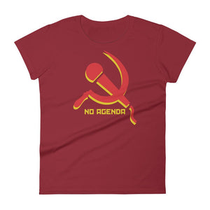 NO AGENDA MIC & SICKLE - womens tee