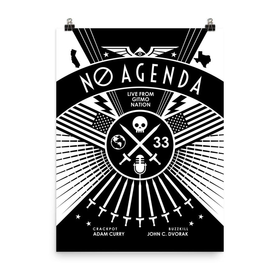 NO AGENDA RALLY | dark - art print