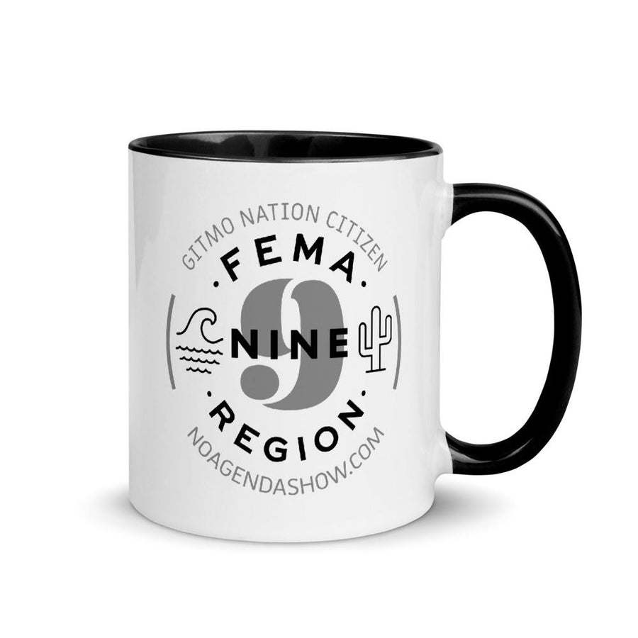 FEMA REGION NINE - accent mug