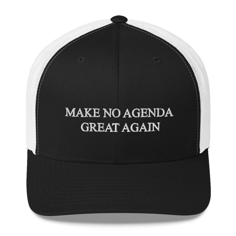 MAKE NO AGENDA GREAT AGAIN - mid trucker hat