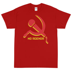 NO AGENDA MIC & SICKLE - rugged tee