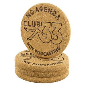 NO AGENDA CLUB 33 - cork coasters