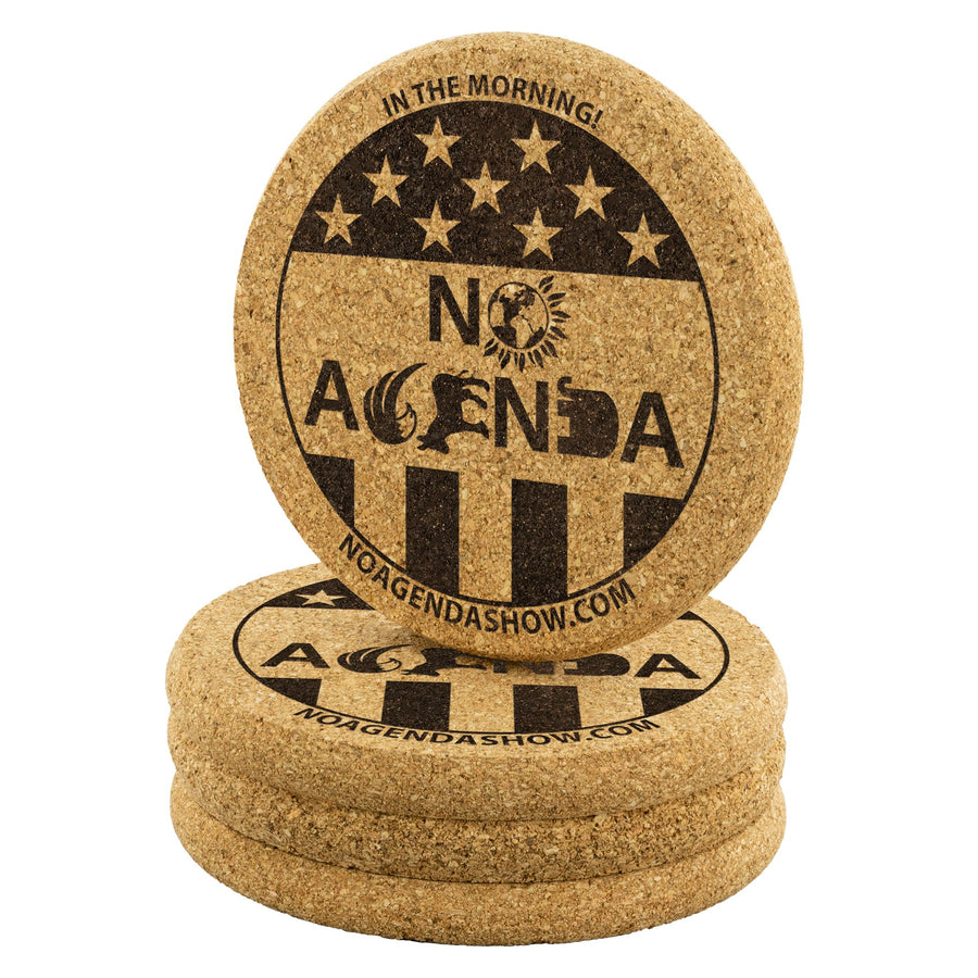 NO AGENDA PARTY TIME - cork coasters