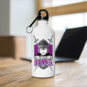 NO AGENDA DAMES - 14 oz water bottle