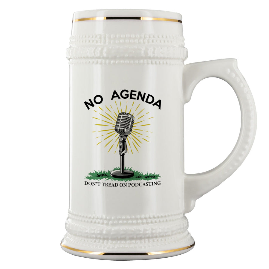 DONT TREAD ON PODCASTING - beer stein