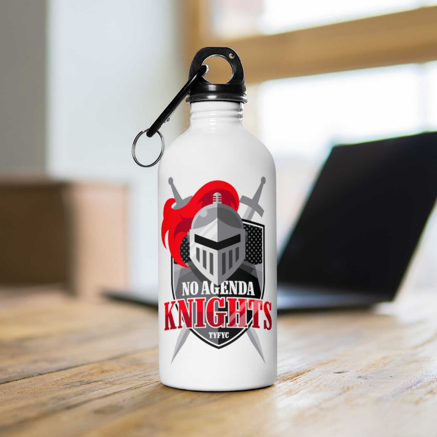NO AGENDA KNIGHTS - 14 oz water bottle