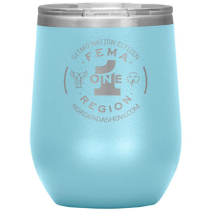 FEMA REGION ONE - 12 oz wine tumbler