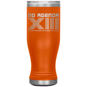 NO AGENDA 13 YEARS - 20 oz boho tumbler