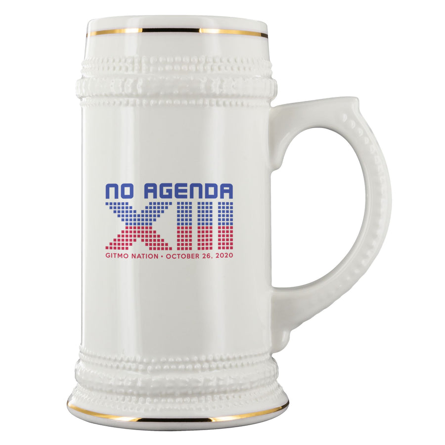 NO AGENDA 13 YEARS - beer stein