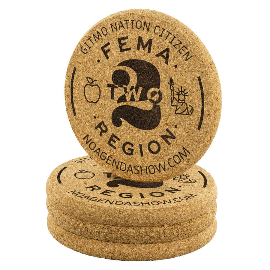 FEMA REGION TWO - cork coasters