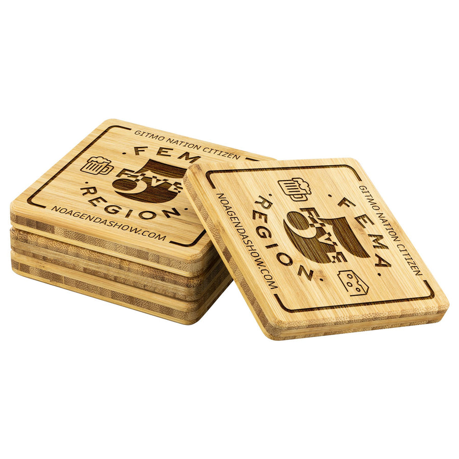 FEMA REGION FIVE - bamboo coasters