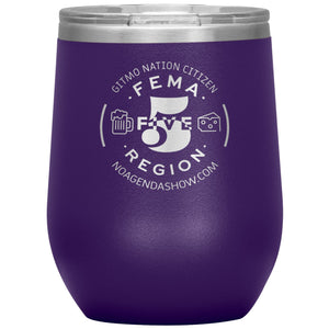 FEMA REGION FIVE - 12 oz wine tumbler