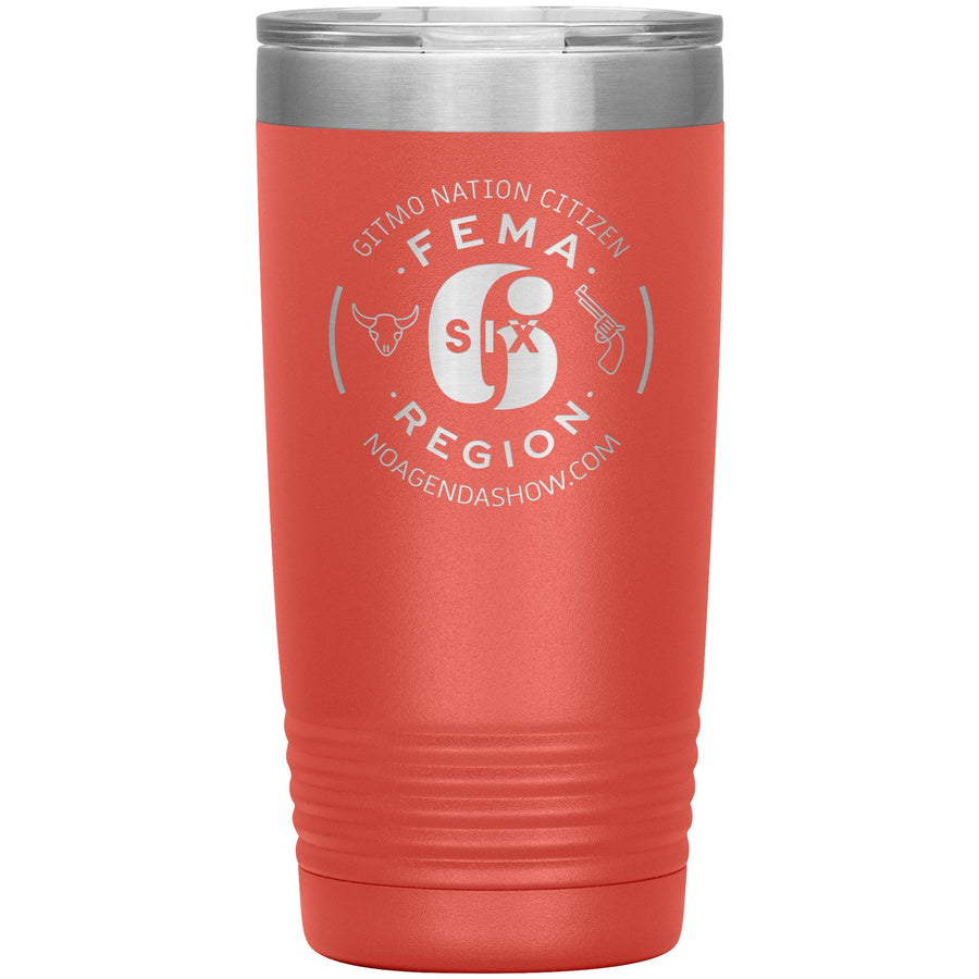 FEMA REGION SIX - 20 oz tumbler