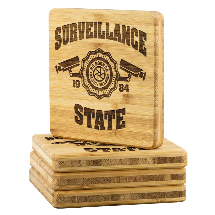 SURVEILLANCE STATE - bamboo coasters