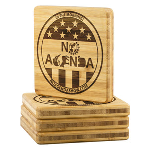 NO AGENDA PARTY TIME - bamboo coasters