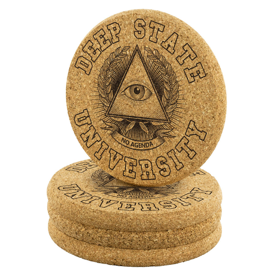 DEEP STATE UNIVERSITY - cork coasters