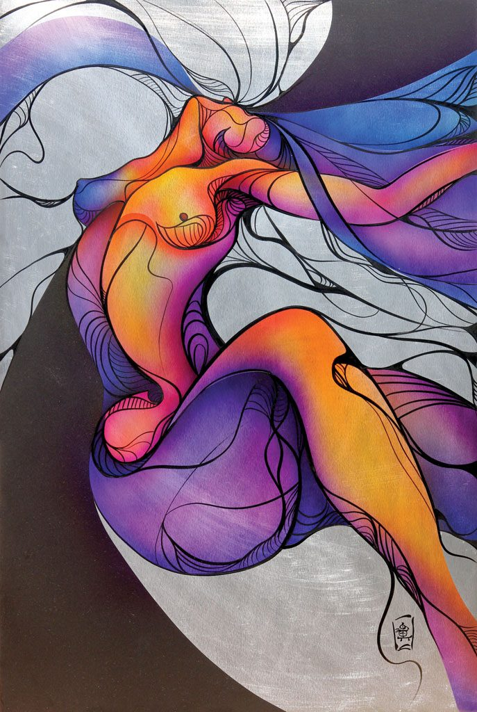 erotic aluminium painting