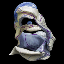 Load image into Gallery viewer, Blue ceramic sculpture