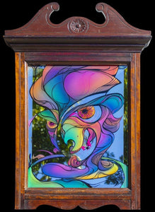 Colourful commissioned mirror art