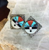 Zuni Sunface Earrings by Mildred Yan Panteah