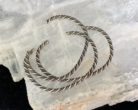 Set of 3 Sterling Twisted Wire Bangle Bracelets