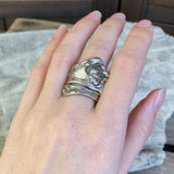 Antique Solid Sterling Spoon Ring, Size 7.5